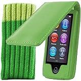 Kolay iPod Nano 7G Case - Green Leather Flip Case Cover For Apple iPod Nano 7th Gen Generation