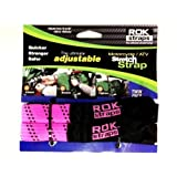 ROK Straps NEW Stretch 2-pk Tie Downs 18-60 Motorcycle Adjustable Straps- PINK! by ROK Straps