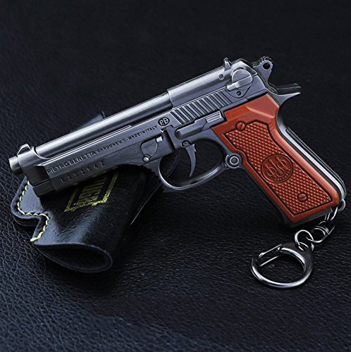 chouge games Eat Chicken 3.5'' metal P18C Pistol Model Figure Arts Toys Collection Keychains Gift within Holster by chouge (Image #4)