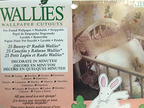 Bunny and Raddish Wallies Wallpaper Cutouts