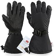 Winter Gloves Ski Glove 3M Thinsulate Work for Skiing/Shoveling Snow Gold Black