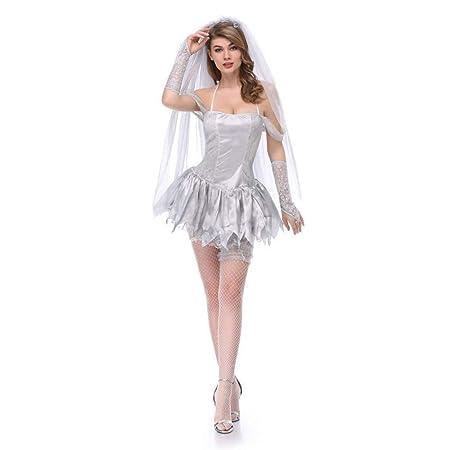 Fashion-Cos1 Fiesta de Halloween Mujer Zombie Sangriento ...