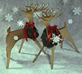 A Woodworking Pattern and Instructions Pkg to Build Your Own Sleek & Stylish Reindeer