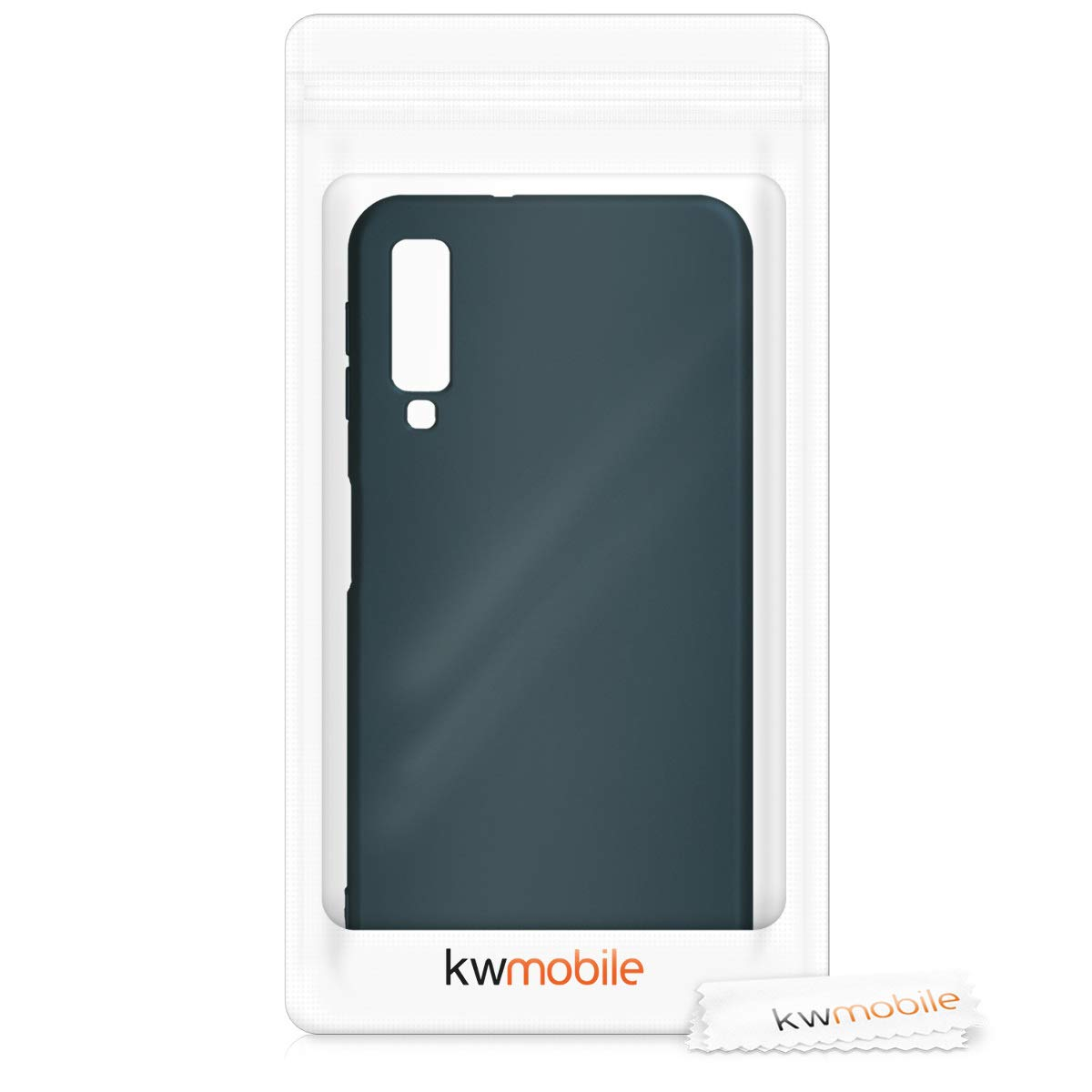 2018 Blanco//Transparente TPU para m/óvil y dise/ño Dibujo de coraz/ón en kwmobile Funda para Samsung Galaxy A7 - Carcasa de