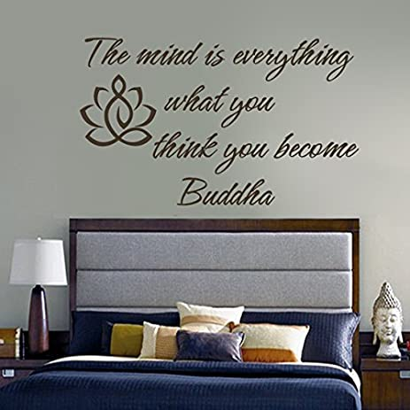 Superbe Buddha Wall Decal Vinyl Lotus Flower Wall Sticker Yoga Wall Quote Wall  Graphic Mural Home Art
