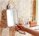 DADAO Bathroom Mirror Wall-mounted Bathroom Mirror Suction Cup Mirror Dormitory Wall-mounted Perforated Makeup Mirror