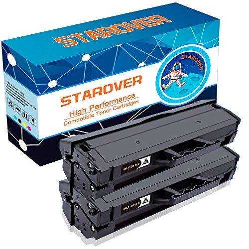 2-Pack For Samsung 111S 111L MLT-D111S MLT-D111L Compatible Toner Cartridges, High Capacity For Samsung Xpress SL-M2070W SL-M2070FW SL-M2020W SL-M2022W SL-M2020 SL-M2070Series Printer (111 Black Toner Cartridge)