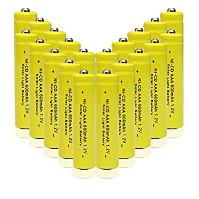 GEILIENERGY 1.2v AAA NiCd 600mAh Rechargeable Battery for Solar light Lamp Yellow Color