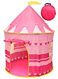 Kiddey Princess Castle Kids Play Tent - Indoor/Outdoor Pink Children Playhouse Great Gift Idea for Boys/Girls, Easy Set up and Storage, Best Quality ---.