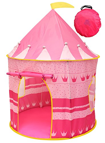 Kiddey Princess Castle Kids Play Tent - Indoor/Outdoor Pink Children Playhouse Great Gift Idea for Boys/Girls, Easy Set up and Storage, Best Quality, price