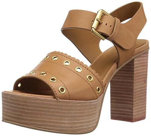 See by Chloe Women's Nora Platform Heeled Sandal, Medium Brown, 37.5 M EU (7.5 US)