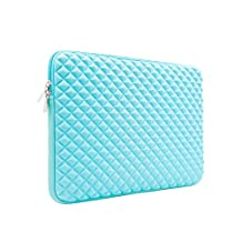 RAINYEAR Laptop Sleeve Diamond Foam Water&Shock Resistant Protective Neoprene Case Bag for 11.6 Macbook Air 10.8 Surface 11 Inch Chromebook Notebook Ultrabook,Dell HP Lenovo Thinkpad Asus Acer(Blue)