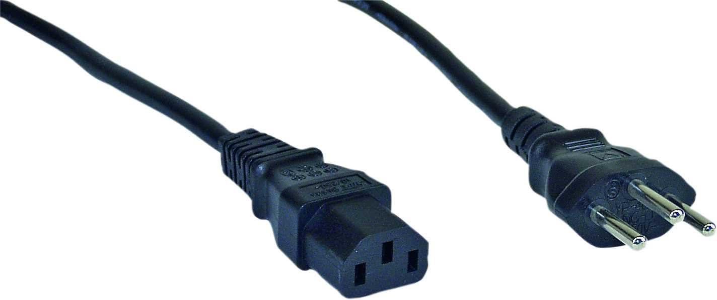 Netzstecker USA auf Kaltgerätestecker C13 InLine® Netzkabel 1,0m