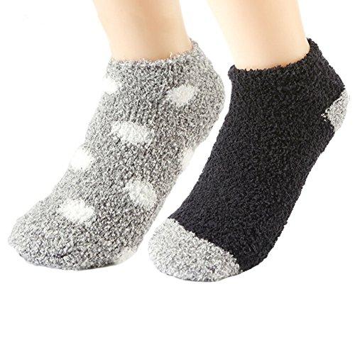 Womens Cozy Slipper Socks Sleeping Anti-Skid Soft Fuzzy Ankle Socks Warm Winter Fluffy Indoors Bed Socks by MEJORMEN