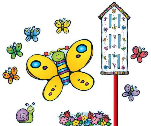 Carson Dellosa D.J. Inkers Butterflies Bulletin Board Set (610046)
