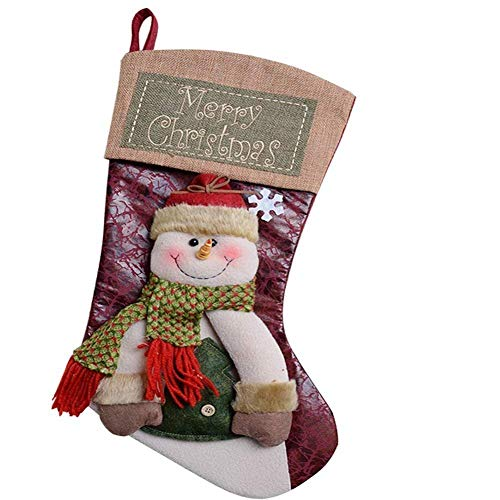 SUNYAO Deluxe Christmas Stockings Decorations Stocking Holders Gift