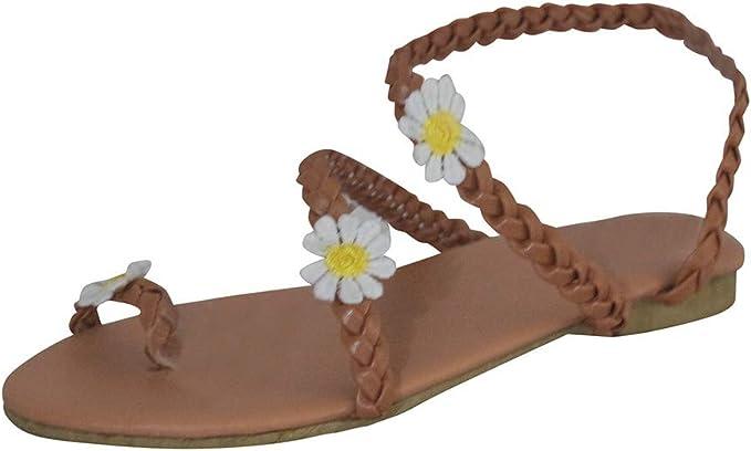 Dainzusyful Sandals for Women Flat Clip Toe Flip Flops Summer Girls Sweet Cute Pineapple Pearls Boho Beach Slippers