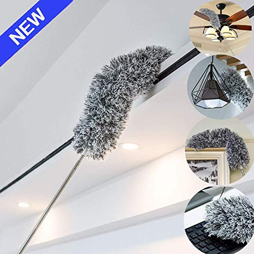 Webster Cobweb Duster,Showroom Microfiber Duster Extendable Ideal for Cleaning Blinds Ceiling Fans Interior Roof TV Bookcases Eco-Friendly Hand Duster (Best Way To Dust Ceiling Fan Blades)
