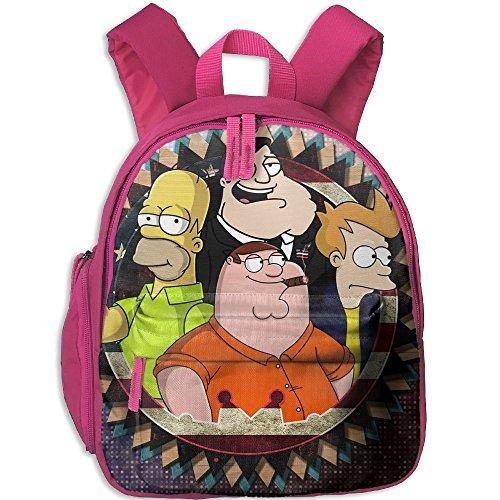 Kids Toddler American Dad Futurama The Simpsons Family Guy Pre School Bag Backpack Satchel Rucksack Handbag