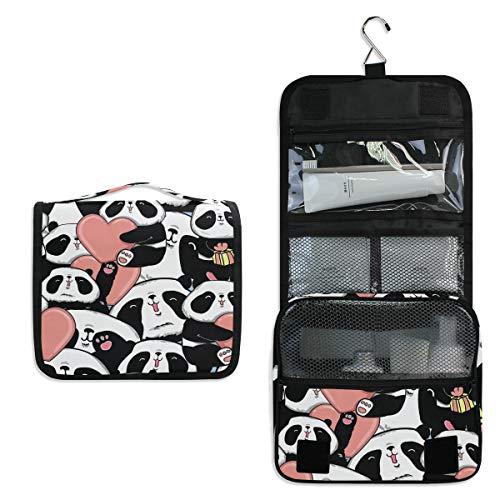 CUTEXL Cosmetic Bag Cute Valentine Animal Panda Large Hanging Wash Gargle Bag Portable Travel Toiletry Bag Makeup Case Organizer for Women Lady - Four Paws Toothpaste