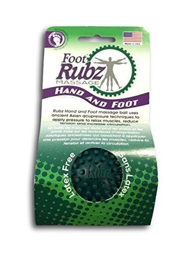 Due North Foot Rubz Foot Hand and Back Massage Ball, Relief from Plantar Fasciitus, 2 Count (Small Massage Ball)