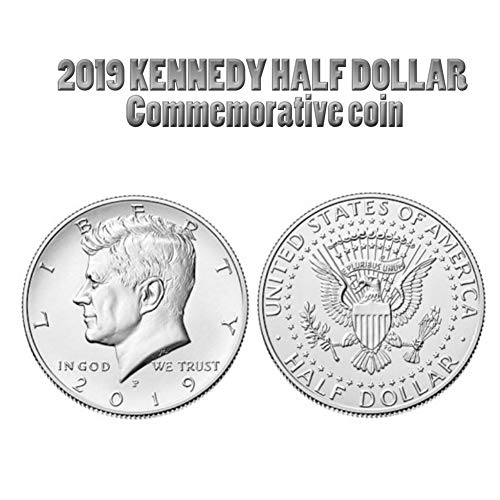 (KINHOO Kennedy Commemorative Coin, Silver-Plated Collectible Coin Crafts Art Decoration Gift)