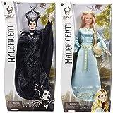 Disney Maleficent Dark Beauty & Aurora the Beloved Dolls Bundle of 2