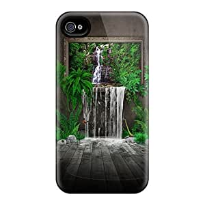 Premium Painted Waterfall 3d Heavy-duty Protection Cases For Iphone 4/4s