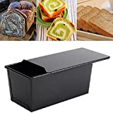 Rectangle Nonstick Box Loaf Tin Kitchen Pastry Bread Cake Baking Pan Bakeware 8-inch x 4-inch Loaf Pan, Black