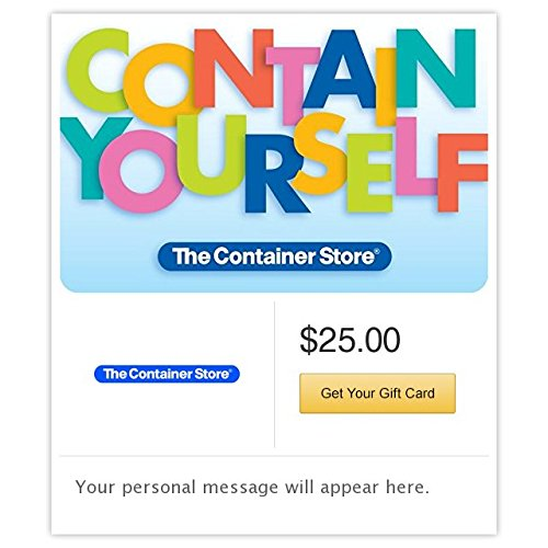 The Container Store Contain Yourself Gift Cards   E Mail Delivery