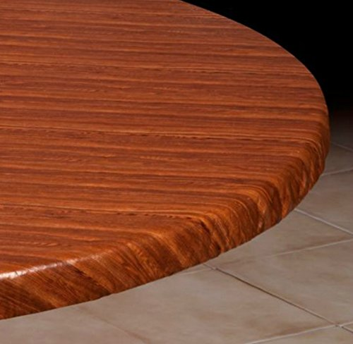 Vinyl Table Cover - Small Round: Fits 36''-44'' Dia. Table (WoodGrain) by Palos Designs (Image #1)