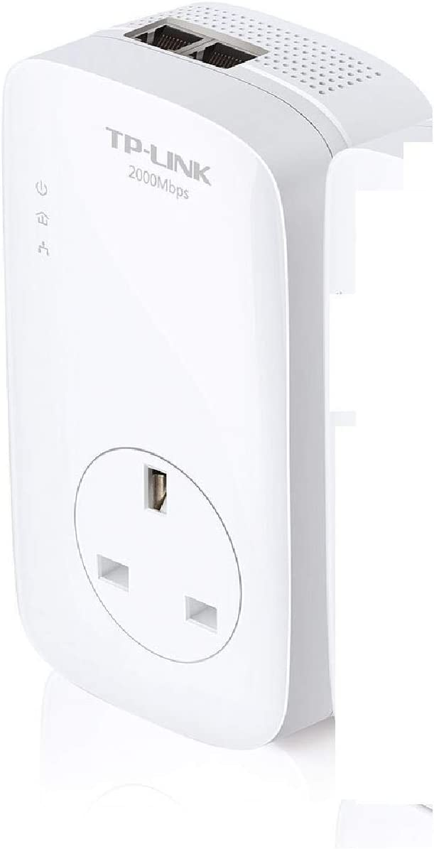 TP-Link TL-PA9020P 2-Port Gigabit Passthrough Powerline Adapter Data Transfer Speed Up to 2000 Mbps Triple Pack Ideal for HD Video Streaming and Online Gaming UK