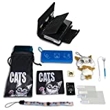 Dual Cases carry kit for Nintendo 3DS (cat and leather)