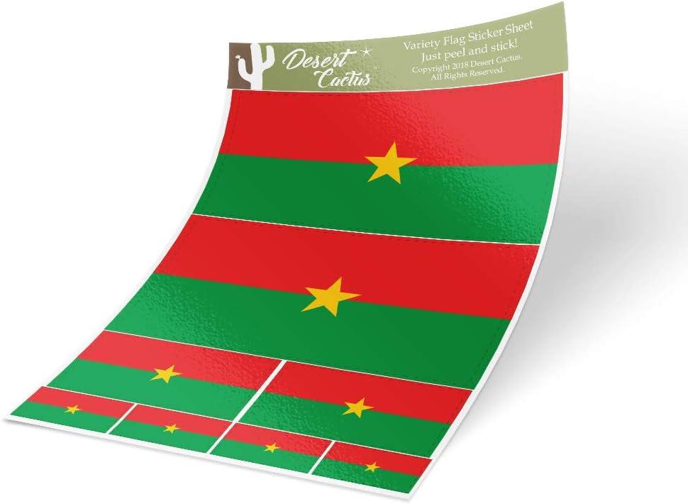BURKINA FASO COUNTRY VINYL FLAG DECAL STICKER
