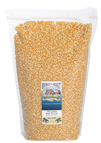 Riehle's Select Popping Corn - Hulless Baby Yellow Whole Grain Popcorn - 6lb (96oz) Resealable Bag