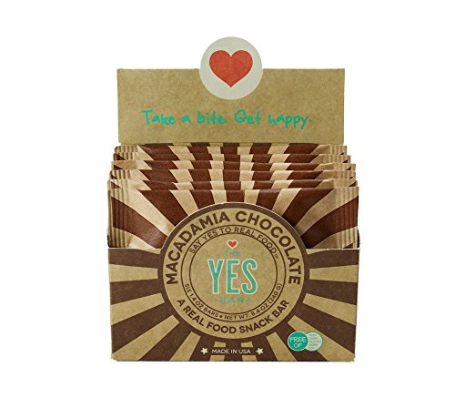 The YES Bar Paleo Protein Bars Healthy and Pure Paleo Snack Bars Natural Gluten Free Soy Free and Dairy Free Nutrition Bars for Meal Replacement or After Workout (Macadamia Chocolate 6 Piece)