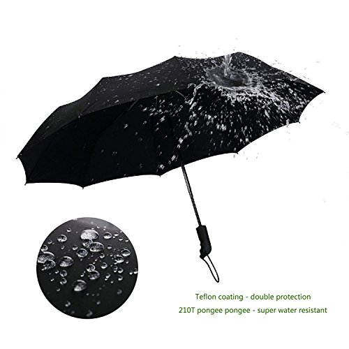 Yooso Travel Umbrella 10 Ribs Finest Windproof Umbrella with Teflon Coating by Yooso (Image #3)