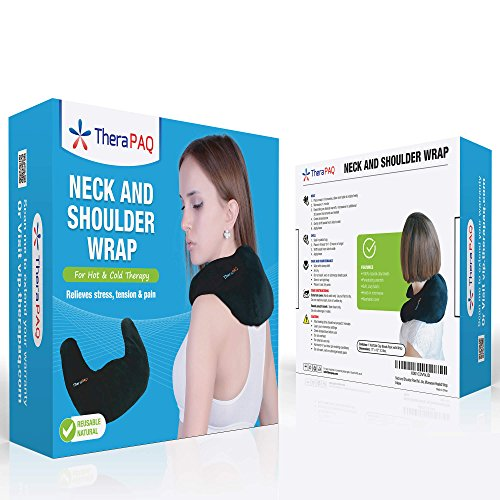 Neck and Shoulder Pain Relief TheraPAQ Best Natural Moist Heat or as Pack - Wrap - Non-Scented
