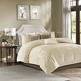 JLA Home INC Trinity 7 Piece Comforter Set Ivory King