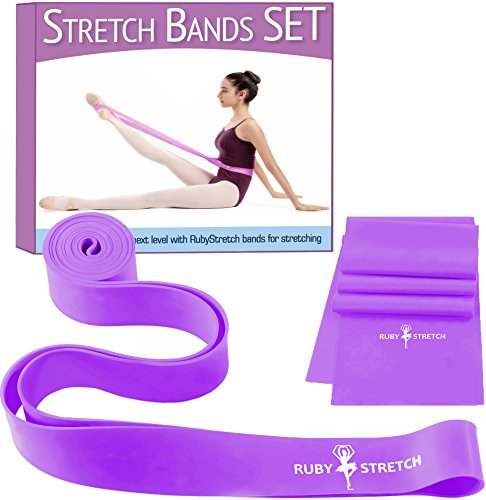 Exercise Bands for Stretching Stretch Bands set for Dancers - Perfect Gift for Christmas + Gift Box - Ballet Stretch Band for Kids & Adults - Resistance Bands