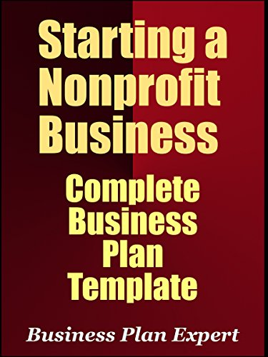 Amazoncom Starting A Nonprofit Business Complete Business Plan - Free nonprofit business plan template