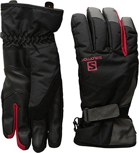 Salomon Men's Force Dry Gloves, Black/Forged Iron, Large (Salomon Ski Gloves)