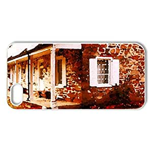 Autumn - Case Cover for iPhone 5 and 5S (Houses Series, Watercolor style, White)