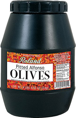 Roland Pitted Alfonso Olives, 4 Pound