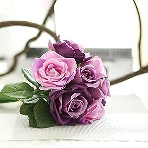 Eliffete 2017 Artificial Flowers Roses Bridal Bouquet for Wedding Home DIY Decor 78