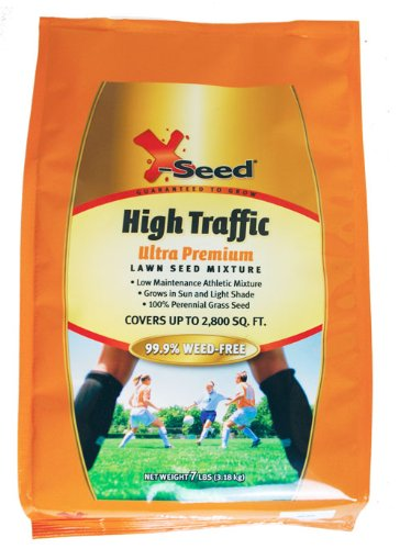 X-Seed Ultra Premium High Traffic Lawn Seed Mixture, 7-Pound