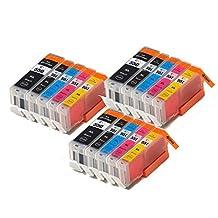 15 XL IATUK CLI-551XL/ PGI-550XL Compatible Ink Cartridges for Canon Pixma MG5450 MG5550 MG5650 MG6350 MG6450 MG6650 MX725 MX925 MX725 MG7150 iP7250 Printers by iatuk