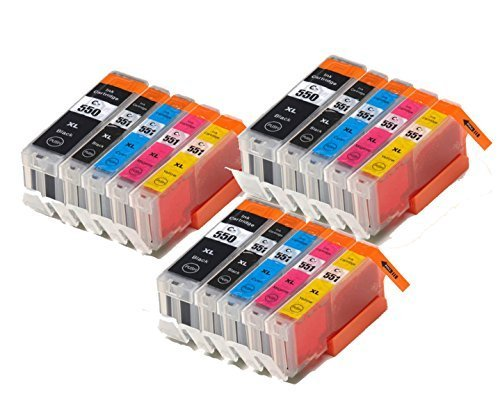 15 XL IATUK CLI-551XL/ PGI-550XL Compatible Ink Cartridge...