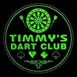 4x ccts0498-g TIMMY'S Dart Club Game Room Bar Beer 3D Engraved Drink Coasters