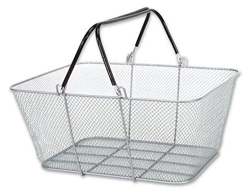 Set of 12 New Large Wire Mesh Store Shopping Basket Set - Silver by Unbrended